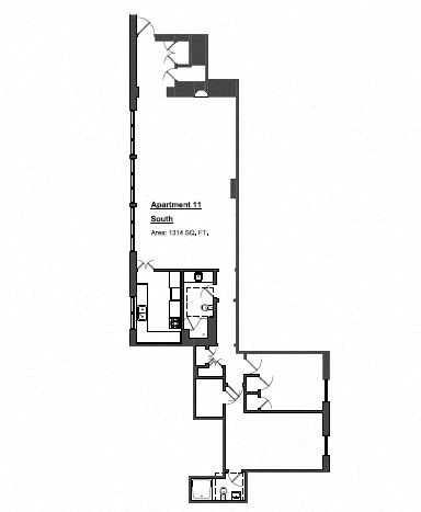 Penthouse 2 Bed - Large Floor Plan 12