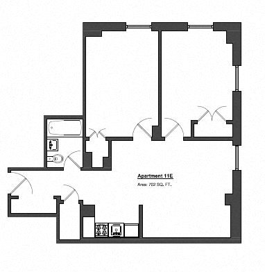 Penthouse 2 Bed - Small Floor Plan 10