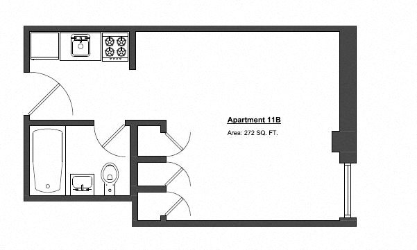 Penthouse Studio Floor Plan 8
