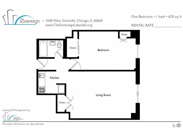 1 Bed - Large Floor Plan 6