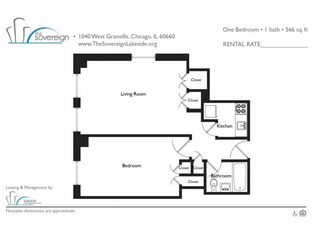 1 Bed - Medium Floor Plan 5