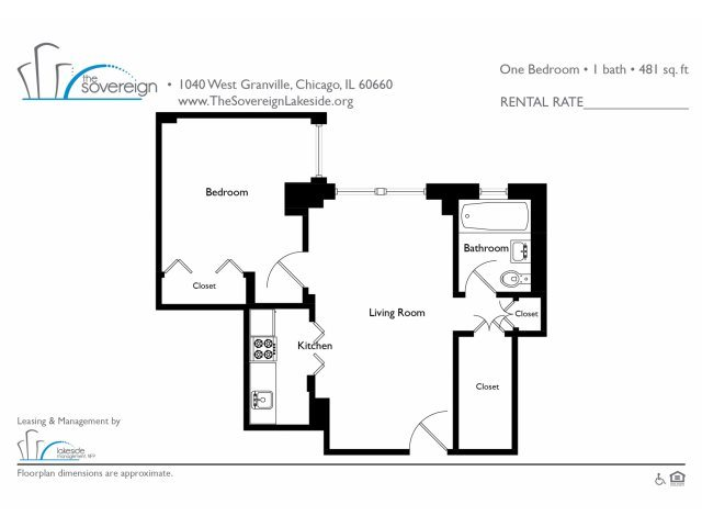 1 Bed - Small Floor Plan 4