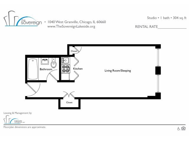 Studio - Medium Floor Plan 3