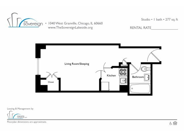 Studio - Small Floor Plan 2