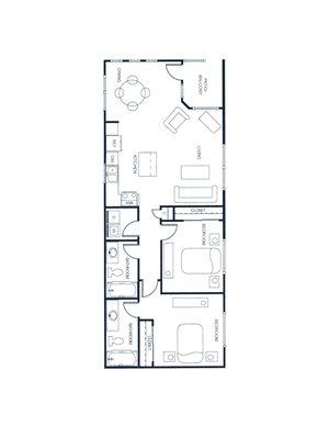 The Plaza - 2 Bedroom/2 Bath Loft