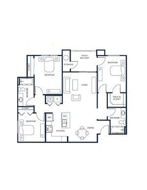 The Capitol - 3 Bedroom/2 Bath