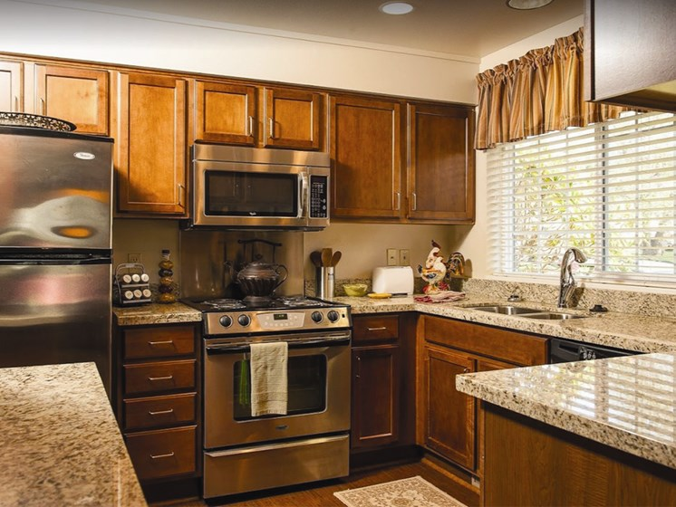 Sleek Stainless Steel Appliances at Lakeview Senior Living, Lincoln City, 97367