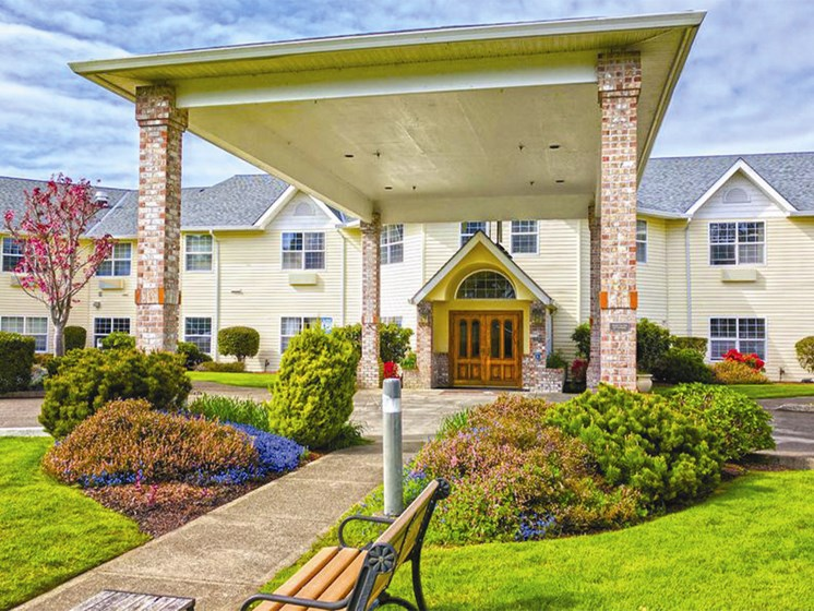 Front Exterior at Lakeview Senior Living, Lincoln City, OR