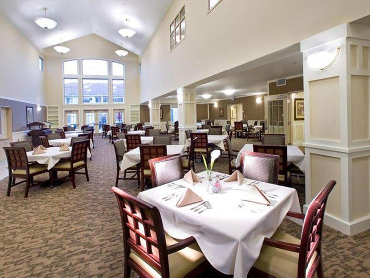 Spacious Dining Hall at Westmont of Brentwood, Brentwood, CA