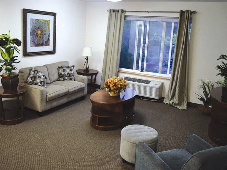 Spacious Living Room at Oceanview Senior Living, Oregon