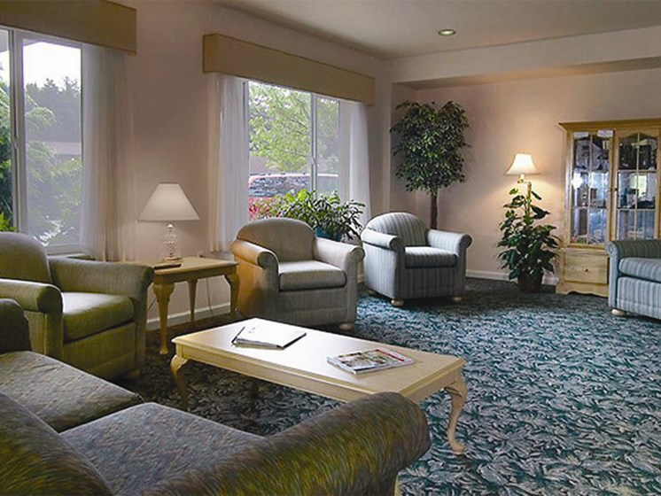 Classic Living Room Design at Oceanview Senior Living, Newport, OR
