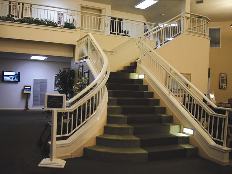 Designed Staircase at Oceanview Senior Living, Newport, 97365
