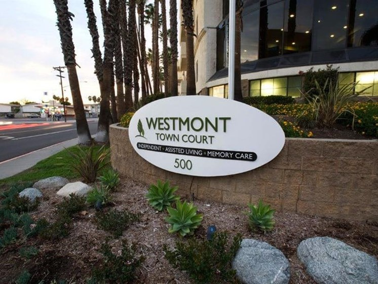 Elegant Entry Signage at Westmont Town Court, California