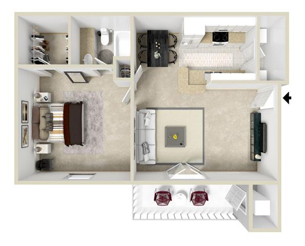 Incredible Floor Plans Of Crossgates Apartment Homes In Starkville Ms Interior Design Ideas Clesiryabchikinfo