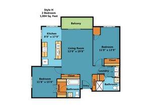 Corner Two Bedroom Two Bath