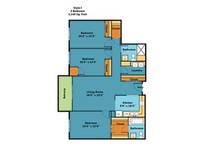 Three Bedroom Two Bathroom