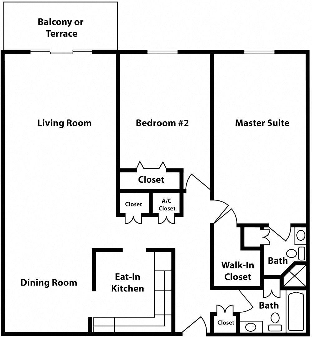 Classic - 2 Bedrooms - Chatillon Floor Plan 15