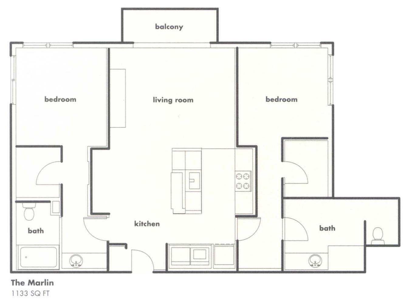 The Marlin Floor Plan 3