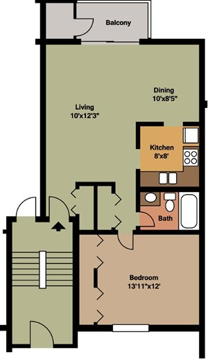 1 Bedroom / 1 Bath - Island & Lakeview