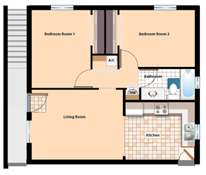 2 Bedroom/ 1 Bath