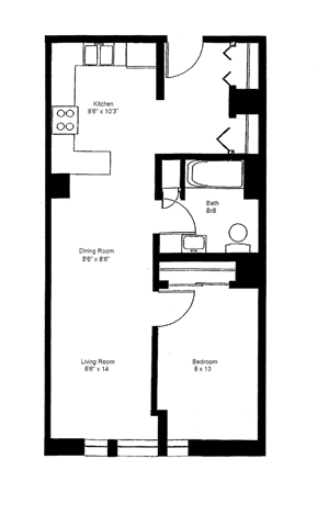 1 Bedroom Large