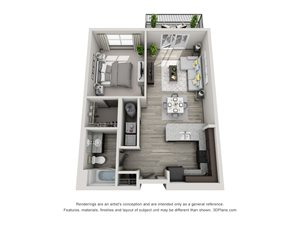 The Flats at Austin Landing Apartments- One Bedroom Apartment