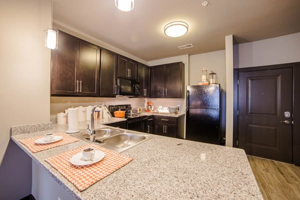 The Flats at Austin Landing Apartments in Miamisburg, OH - Contemporary Kitchen