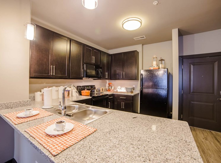 The Flats at Austin Landing Apartments in Miamisburg, OH - Contemporary Kitchens