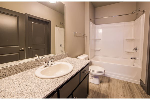 The Flats at Austin Landing Apartments in Miamisburg, OH - Bathroom