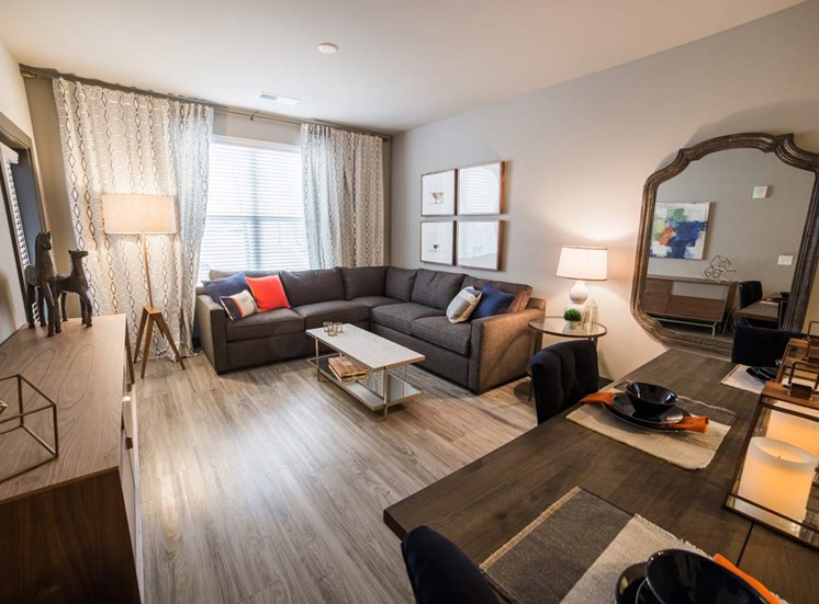 The Flats at Austin Landing Apartments in Miamisburg, OH - Living Room