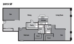 Janus Lofts - Two Bedroom Apartment in downtown Indianapolis, IN