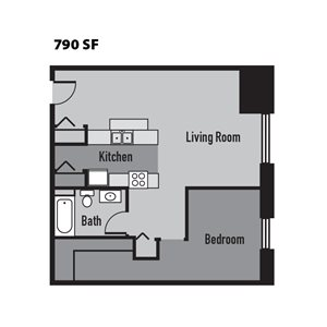 Janus Lofts - One Bedroom Apartment in downtown Indianapolis, IN