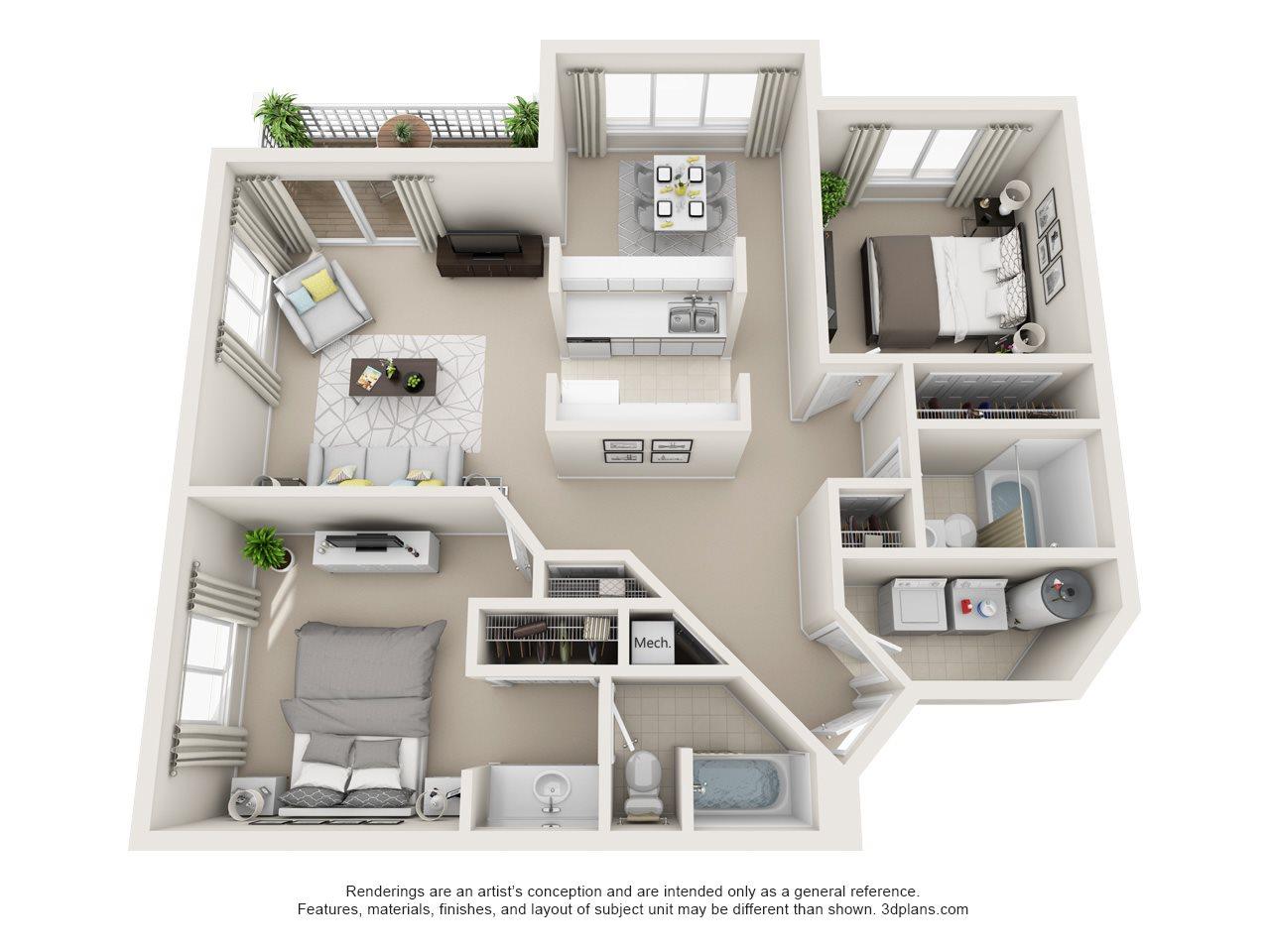 2B Floor Plan 2