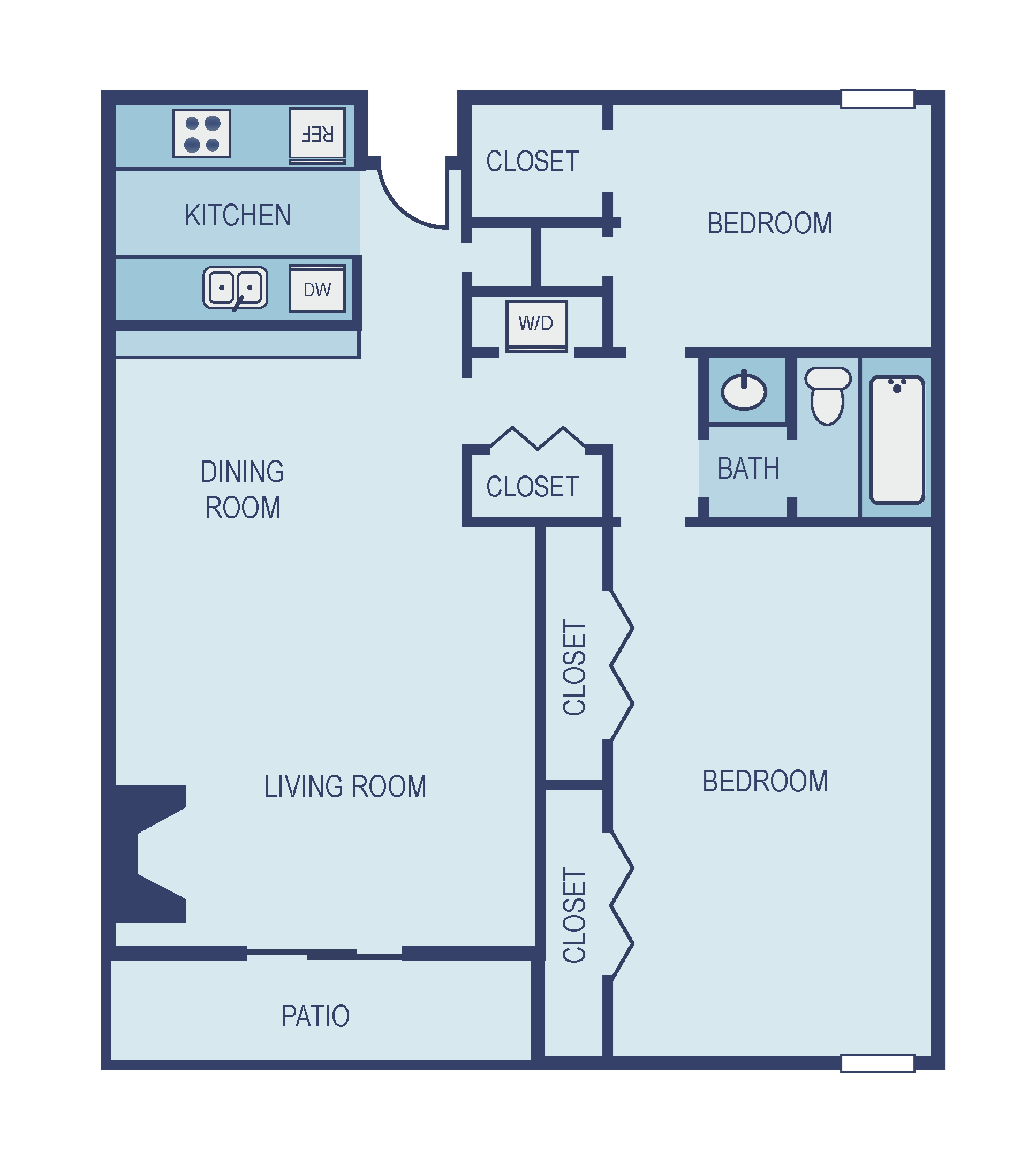 Two Bedroom B1 Floor Plan 5