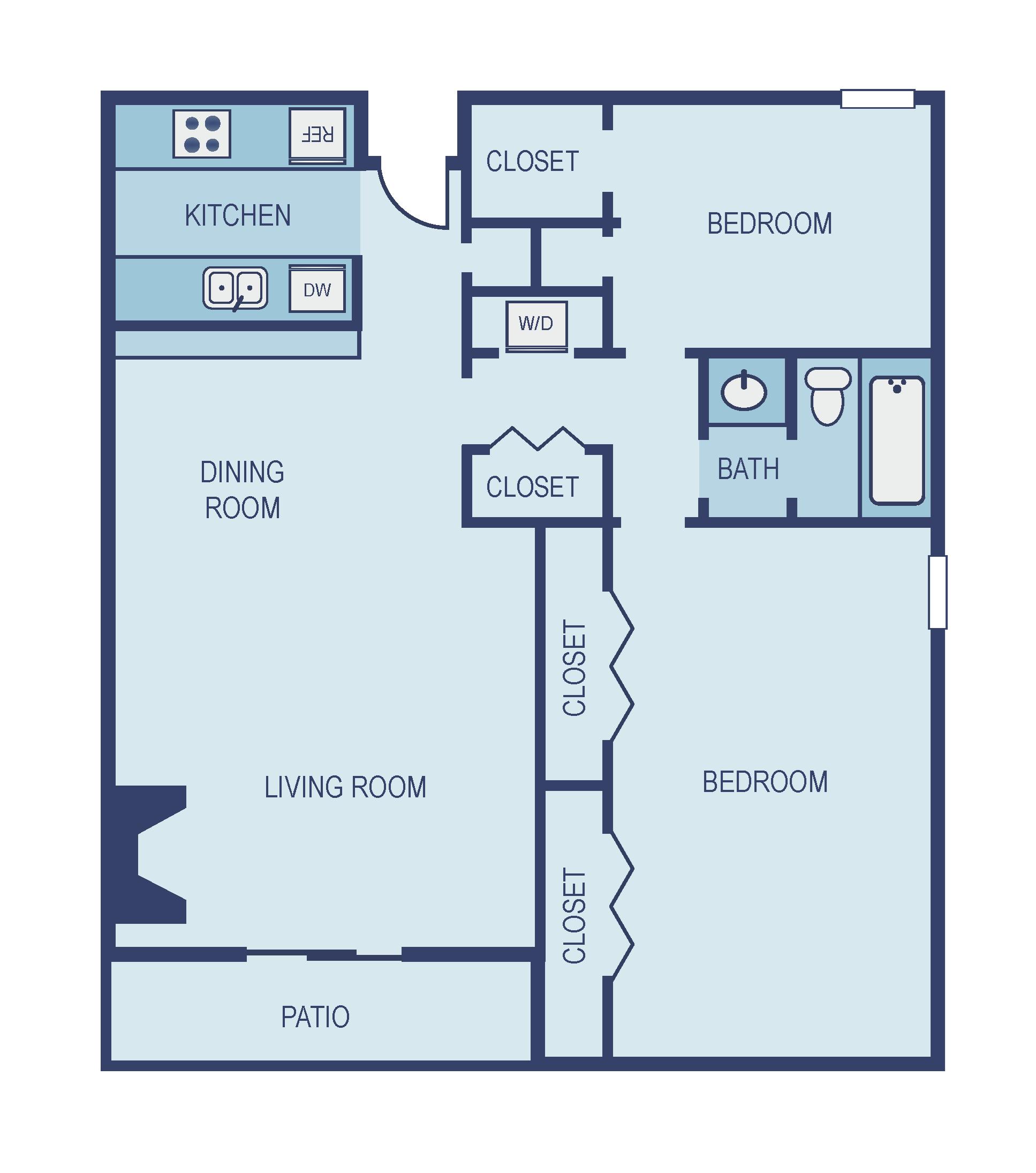 Two Bedroom B2 Floor Plan 6