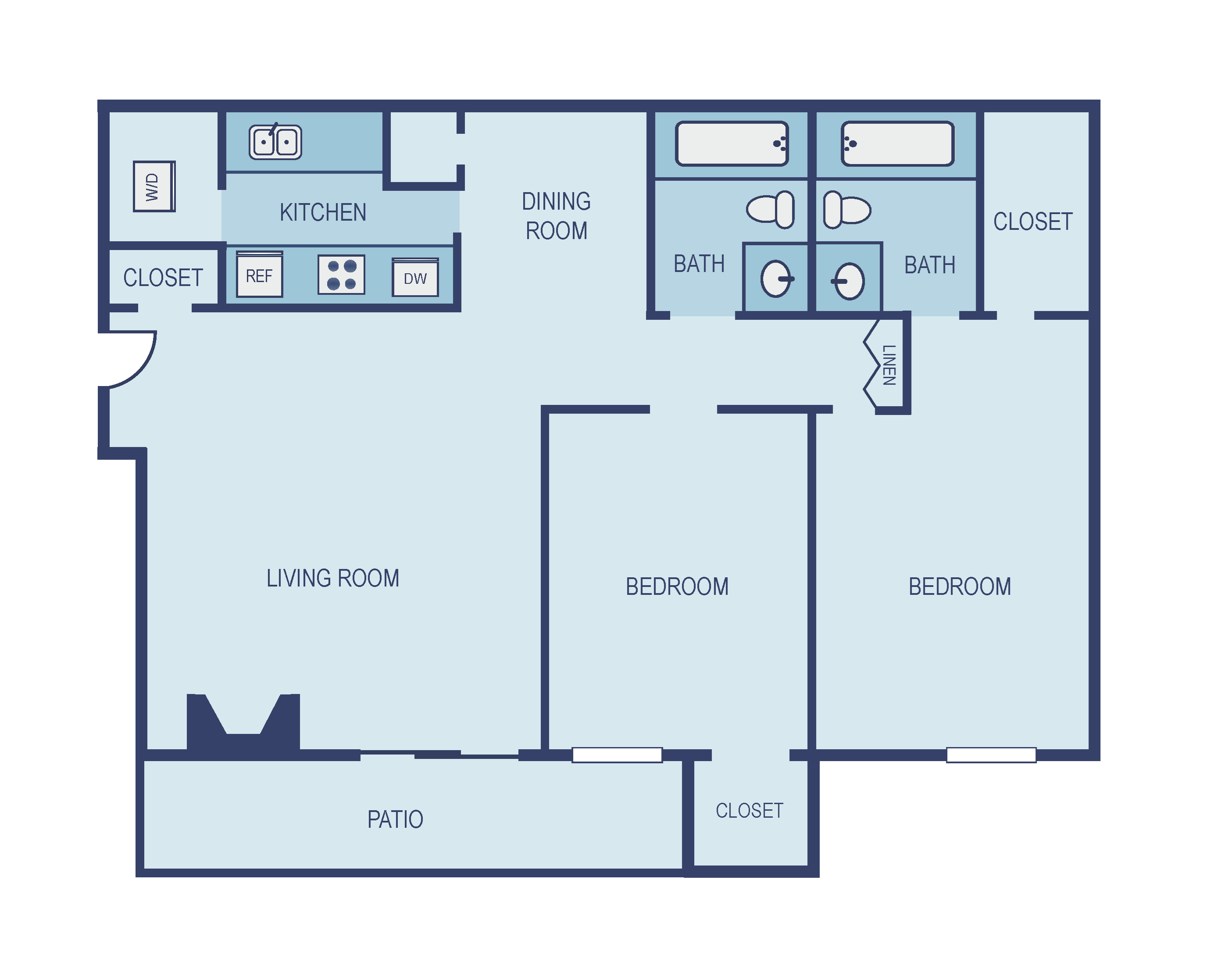 Two Bedroom B3 Floor Plan 7