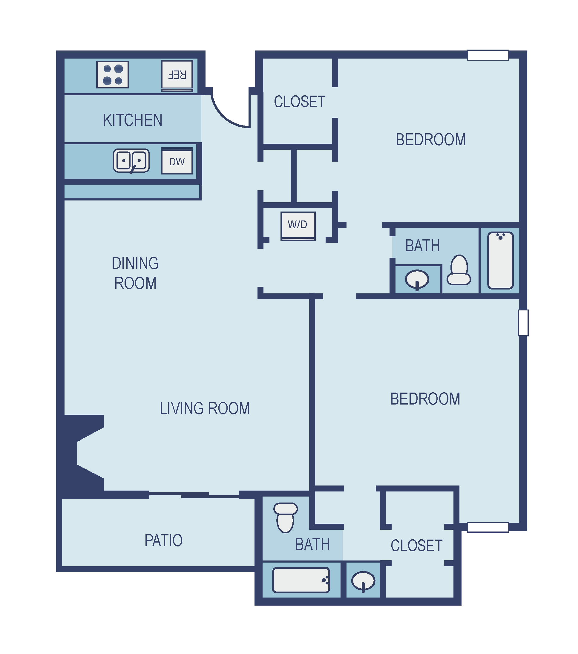 Two Bedroom B4 Floor Plan 8
