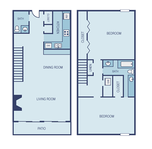 Two Bedroom B6 Townhome