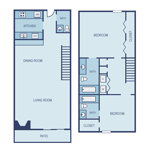 Two Bedroom B7 Townhome