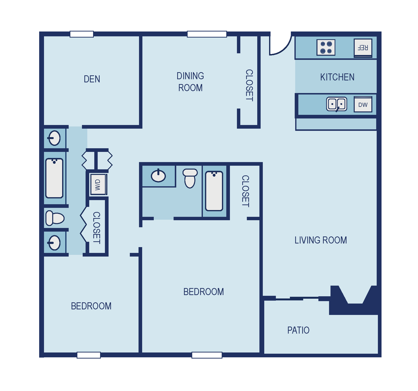 Two Bedroom B8 Den Floor Plan 12