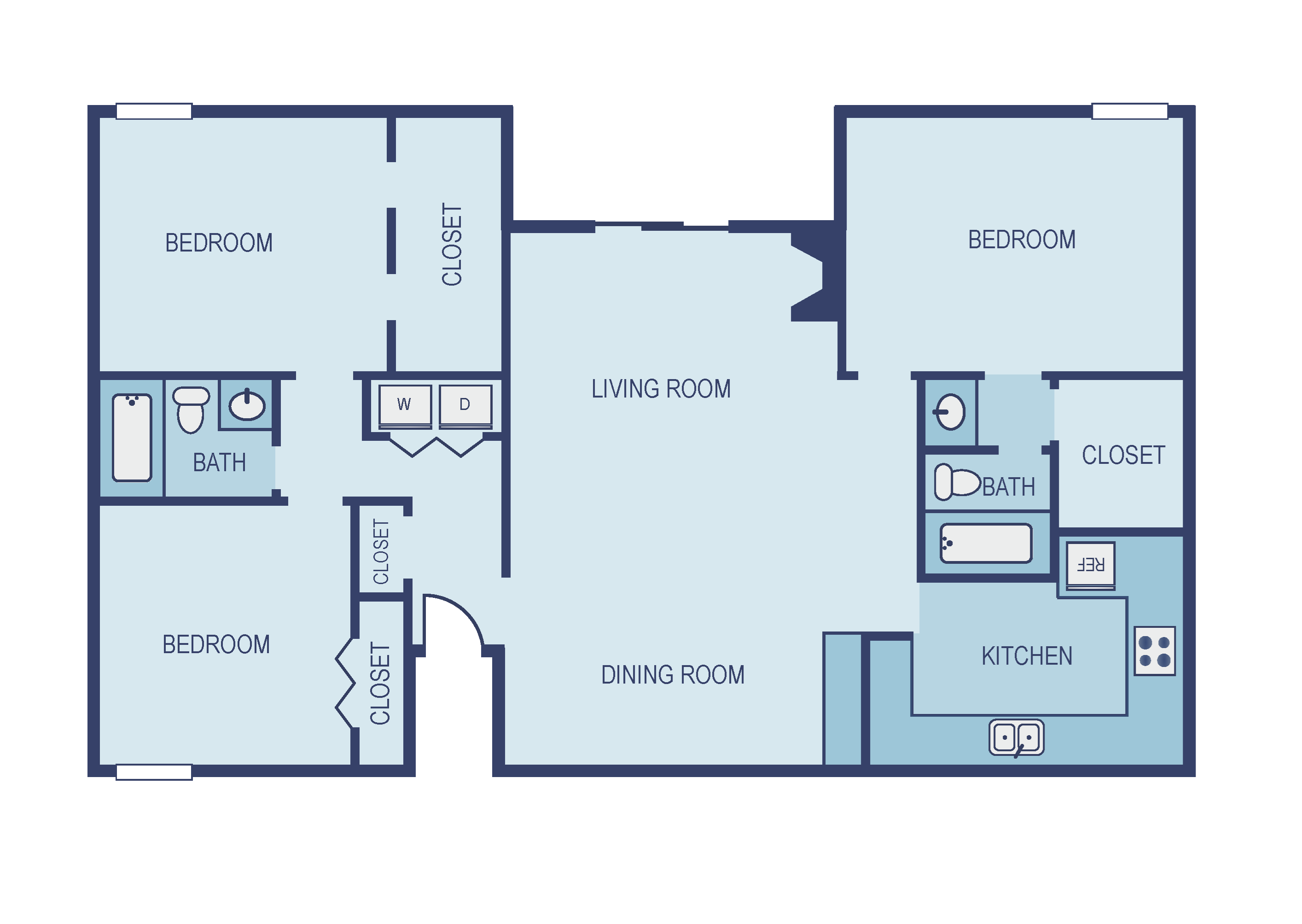 Three Bedroom C1 Floor Plan 13