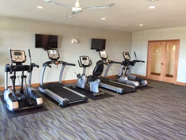 Fitness Center with updated equipment at Paragon Place at Bishops Bay, Wisconsin, 53597