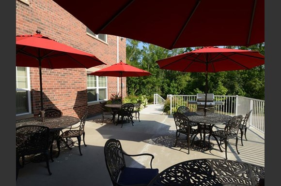 Screened patio/balcony at Highlands at Riverwalk Apartments 55+, Mequon, 53092