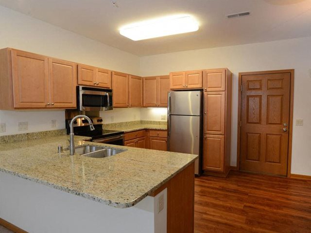 New Countertops and Cabinets at Highlands at Riverwalk Apartments 55+, Mequon, Wisconsin 53092