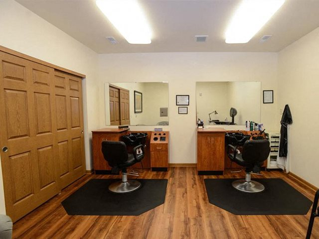 Dedicated Hair Salon at  Highlands at Riverwalk Apartments 55+, 10954 N Cedarburg Road, Mequon, Wisconsin