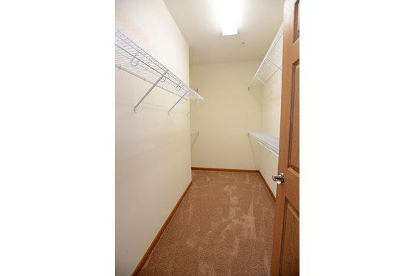 Spacious Closets at Highlands at Riverwalk Apartments 55+