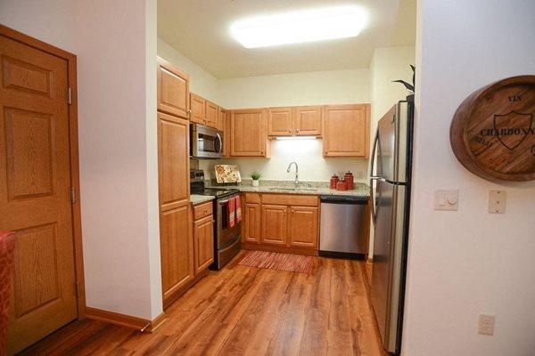 Kitchen at Highlands at Riverwalk Apartments 55+