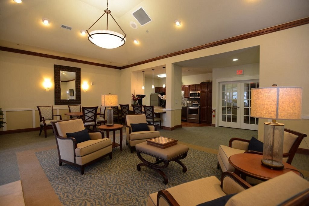 Renovated Community Room at Highlands at Riverwalk Apartments 55+, Mequon, Wisconsin
