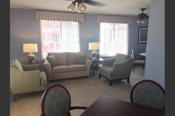 Furnished Community Rooms With Ceiling Fans at Nicolet Highlands Apartments 55+, 430 Grant Street, Wisconsin, 54115