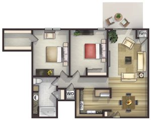 Floor plan at Highlands at River Crossing Apartments , Winneconne